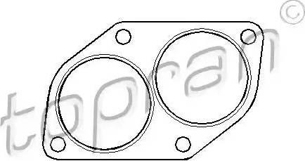 Topran 201 740 - Прокладка, труба выхлопного газа car-mod.com