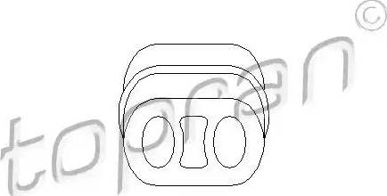 Topran 205 065 - Кронштейн, втулка, система выпуска ОГ car-mod.com