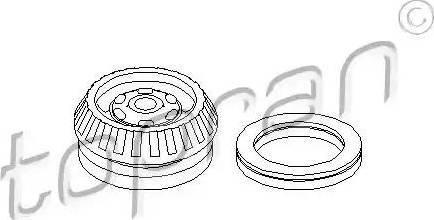 Topran 206 001 - Ремкомплект, опора стойки амортизатора car-mod.com