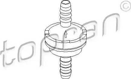 Topran 206111 - Клапан, усилитель тормозного механизма avtokuzovplus.com.ua