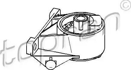 Topran 206 164 - Подушка, підвіска двигуна autocars.com.ua