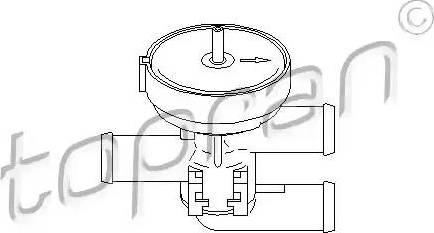 Topran 206241 - Регулирующий клапан охлаждающей жидкости car-mod.com