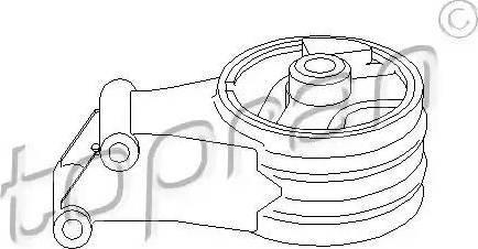 Topran 206 561 - Подушка, підвіска двигуна autocars.com.ua