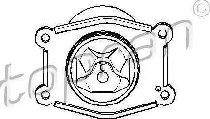 Topran 206 565 - Подушка, підвіска двигуна autocars.com.ua