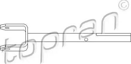 Topran 207 007 - Шток вилки переключения передач autodnr.net