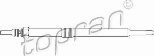 Topran 207 046 - Свеча накаливания car-mod.com