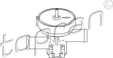 Topran 207465 - Регулирующий клапан охлаждающей жидкости car-mod.com