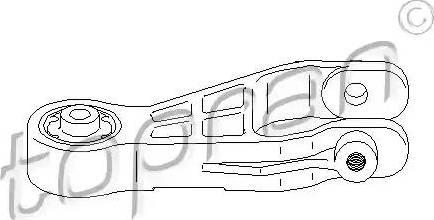 Topran 207 753 - Подушка, подвеска двигателя avtokuzovplus.com.ua