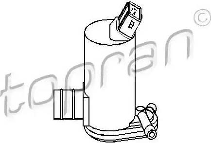 Topran 300 635 - Водяной насос, система очистки окон car-mod.com