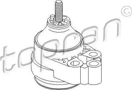 Topran 301 816 - Подушка, підвіска двигуна autocars.com.ua