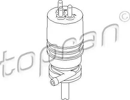 Topran 400117 - Водяной насос, система очистки фар car-mod.com