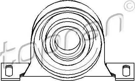Topran 500 804 - Центральная опора подшипника карданного вала car-mod.com