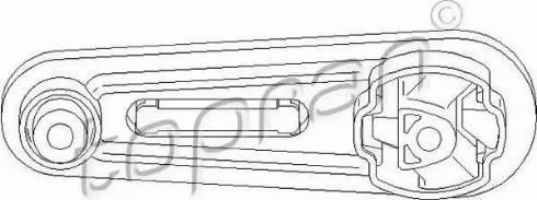 Topran 700 553 - Подушка, подвеска двигателя car-mod.com