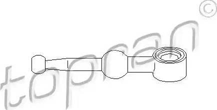 Topran 700 672 - Шток вилки переключения передач car-mod.com
