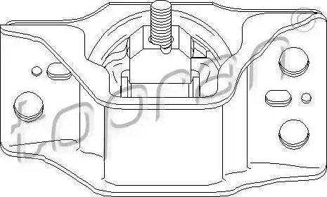Topran 700 727 - Подушка, підвіска двигуна autocars.com.ua