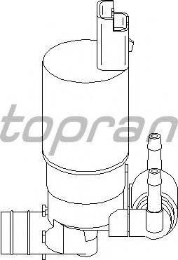 Topran 720 299 755 - Водяной насос, система очистки окон autodnr.net