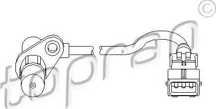 Topran 721 674 - Датчик импульсов, коленвал avtokuzovplus.com.ua