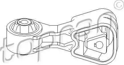 Topran 722 156 - Подушка, подвеска двигателя car-mod.com