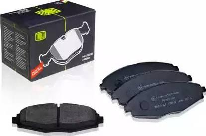 Trialli PF 051301 - Комплект тормозных колодок, дисковый тормоз autodnr.net