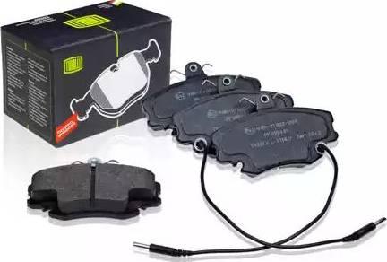 Trialli PF 095101 - Комплект тормозных колодок, дисковый тормоз autodnr.net