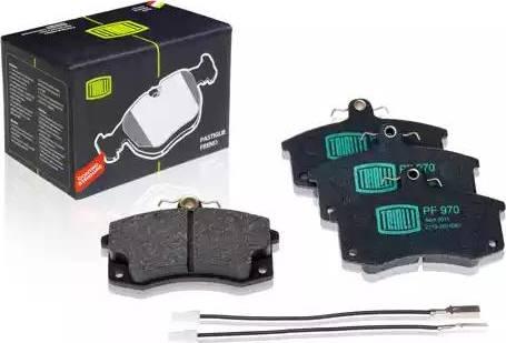 Trialli PF 970 - Комплект тормозных колодок, дисковый тормоз autodnr.net