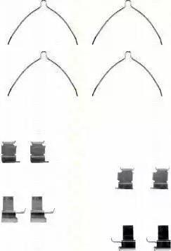 Triscan 8105 131629 - Комплектующие, колодки дискового тормоза autodnr.net