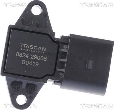 Triscan 8824 29008 - Датчик, давление во впускной трубе car-mod.com