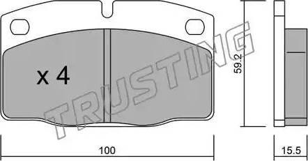Trusting 046.0 - Тормозные колодки, дисковые car-mod.com