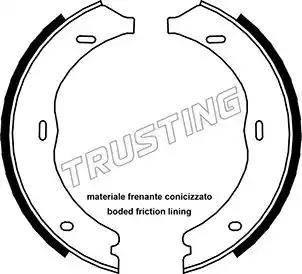 Trusting 052.135 - Комплект тормозных колодок, стояночная тормозная система autodnr.net