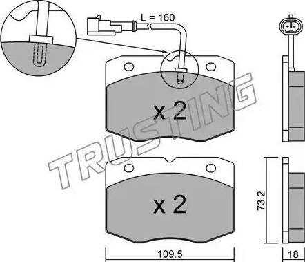 Trusting 141.1 - Комплект тормозных колодок, дисковый тормоз autodnr.net