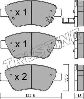 Trusting 330.2 - Тормозные колодки, дисковые car-mod.com