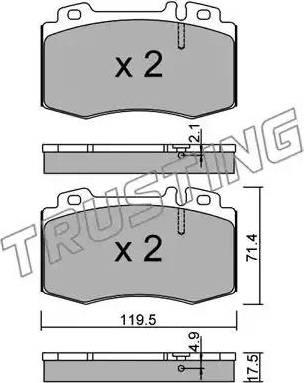Trusting 579.5 - Тормозные колодки, дисковые car-mod.com