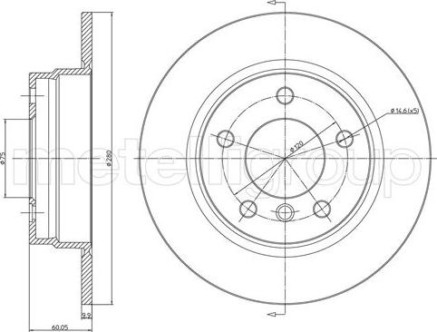 Trusting DF128 - Тормозной диск autodnr.net