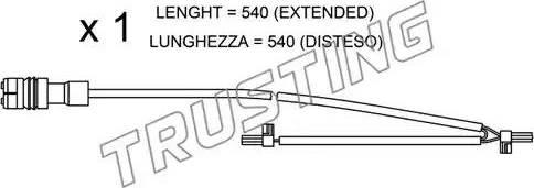 Trusting SU.262 - Сигнализатор, износ тормозных колодок autodnr.net