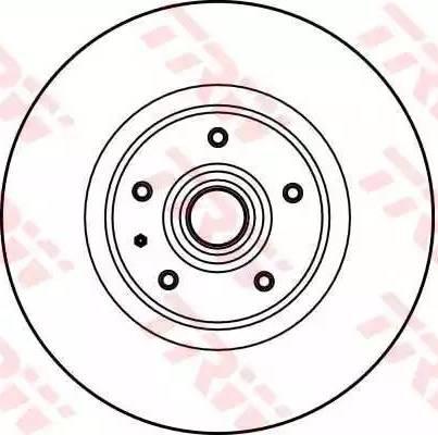 TRW DF1684S - Тормозной диск avtokuzovplus.com.ua