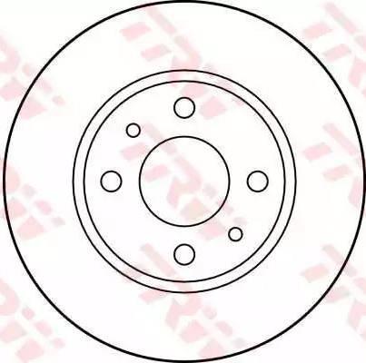 TRW DF1748 - Тормозной диск autodnr.net