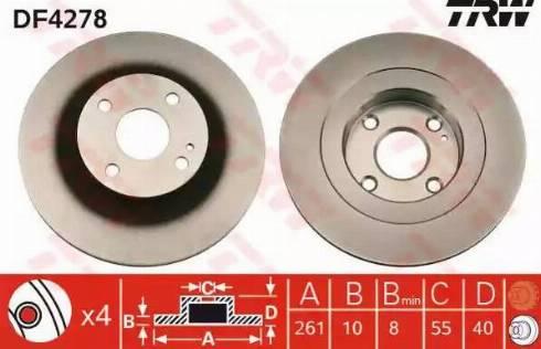 TRW DF4278 - Тормозной диск autodnr.net