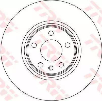 TRW DF4358S - Тормозной диск autodnr.net