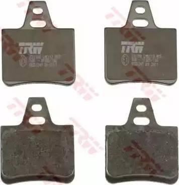 TRW GDB1247 - Комплект тормозных колодок, дисковый тормоз autodnr.net