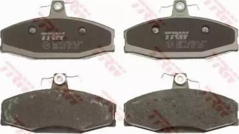 TRW GDB1280 - Комплект тормозных колодок, дисковый тормоз autodnr.net
