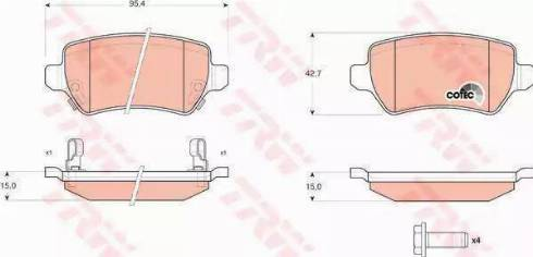 A.B.S. 37296 - Комплект тормозных колодок, дисковый тормоз autodnr.net