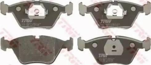 TRW GDB916 - Комплект тормозных колодок, дисковый тормоз autodnr.net