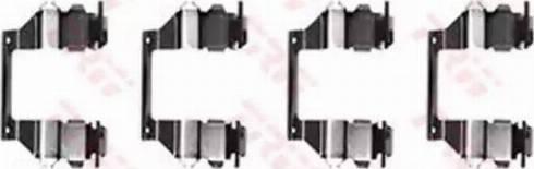 TRW PFK278 - Комплектующие, колодки дискового тормоза autodnr.net