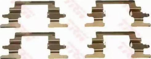 TRW PFK431 - Комплектующие, колодки дискового тормоза autodnr.net