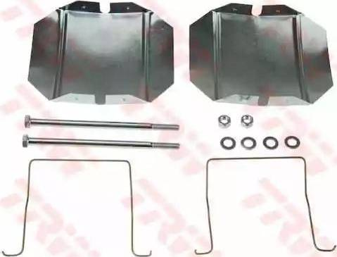 TRW PFK432 - Комплектующие, колодки дискового тормоза autodnr.net