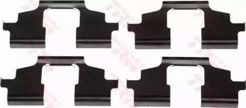 TRW PFK530 - Комплектующие, колодки дискового тормоза autodnr.net