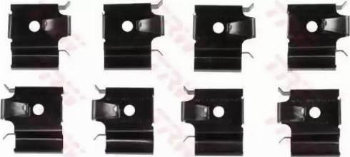 TRW PFK547 - Комплектующие, колодки дискового тормоза autodnr.net
