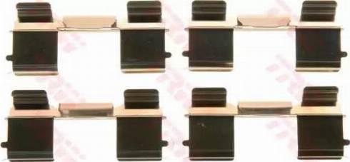 TRW PFK572 - Комплектующие, колодки дискового тормоза autodnr.net