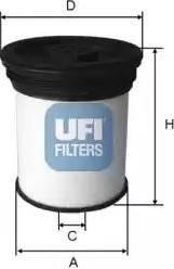 UFI 26.019.01 - Паливний фільтр autocars.com.ua