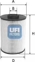 UFI 26.037.00 - Паливний фільтр autocars.com.ua